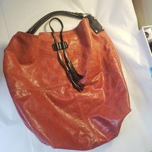 TANO rust red leather hobo purse handbag
